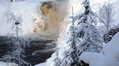 Рождество в Карелии, проживание на базе Медвежий Угол